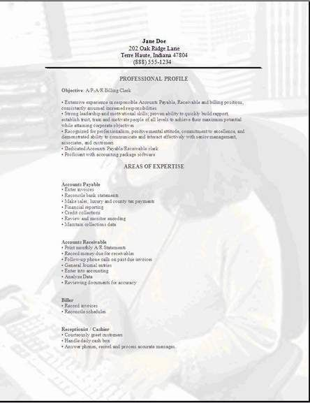 Accountant Clerk Resume3 resume for clerk Pinterest Resume - cover letter sample for accounting