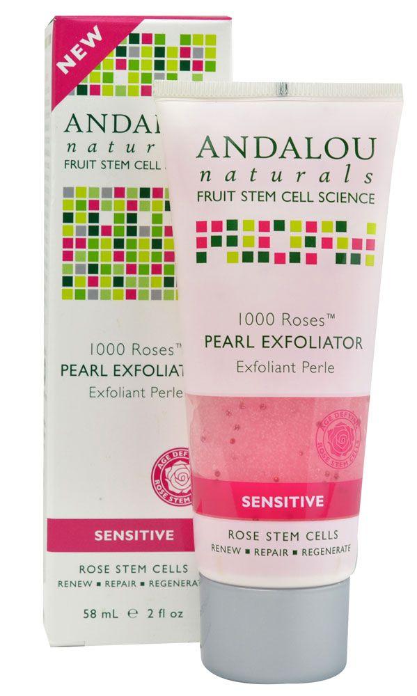 Andalou Naturals 1000 Roses™ Pearl Exfoliator Sensitive