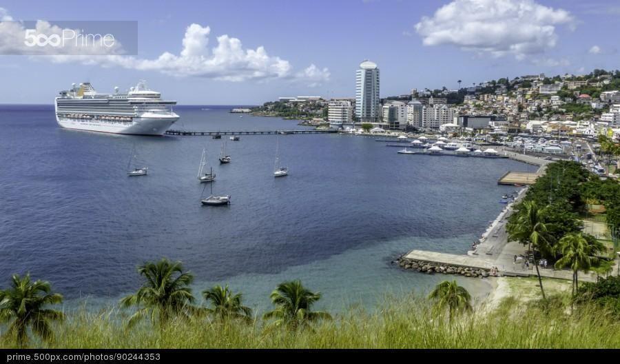 Fort De France Bay Martinique Stock Photo Ilhas Do Caribe