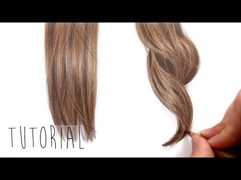Tutorial How To Draw Realistic Brown Straight And Curly Hair With Colored Pencils Emmy Kalia Yo How To Draw Hair Drawing Hair Tutorial Realistic Drawings