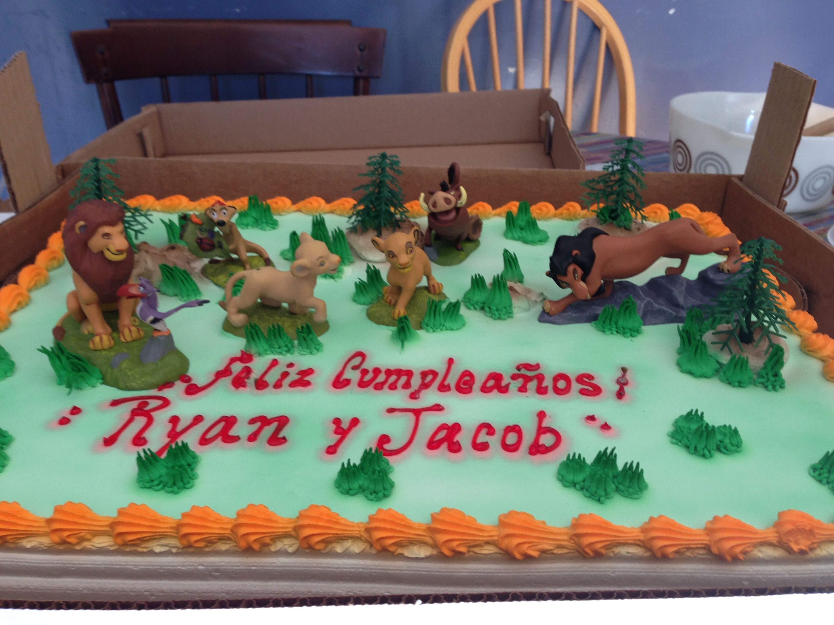 Lion king cake pastel Lion king birthday Pinterest Lion king