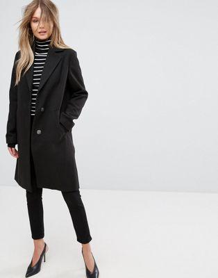 Asos abrigo negro mujer