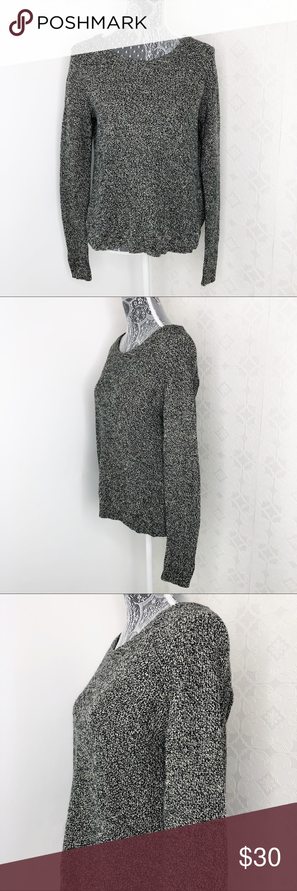 💜Madewell Province Black White Open Back Sweater Madewell Size XS  Black and white long sleeved crew neck sweater  Open back  Excellent pre loved condition  Ships fast  W4 #0202 Madewell Sweaters Crew & Scoop Necks