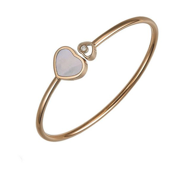 Happy Hearts Bracelet: Chopard Happy Hearts Rose Gold Diamond & Mother Of Pearl