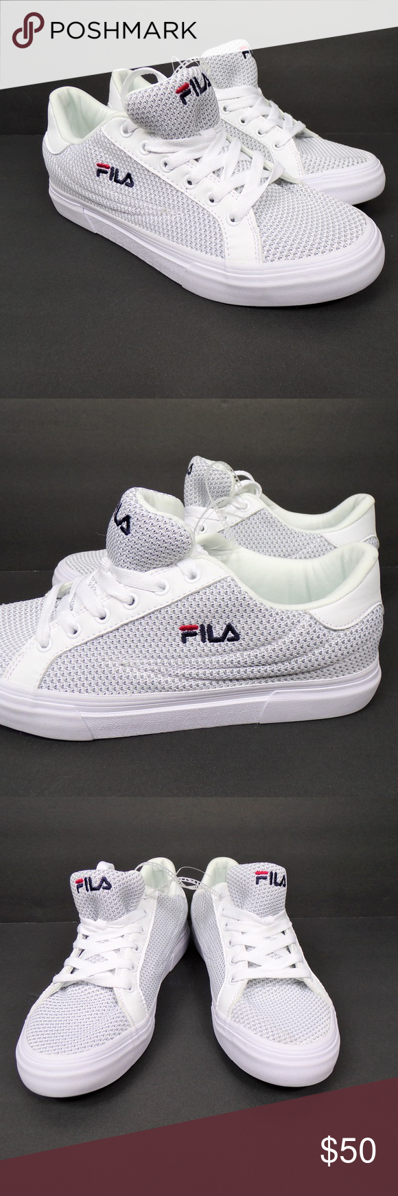 Fila Mens Smash Lite Lace Up Sneakers