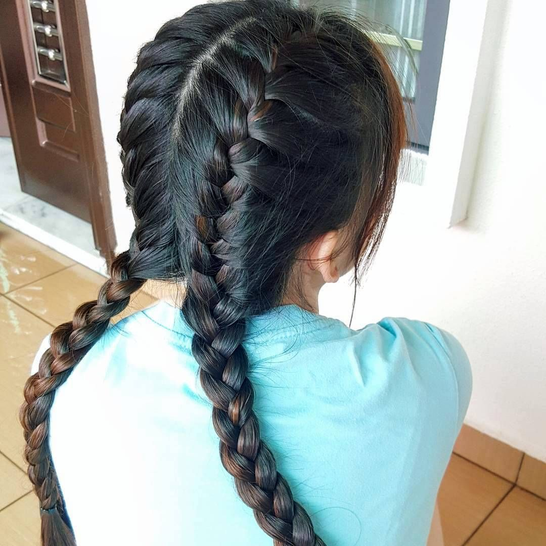 Cool 35 Gorgeous Ideas On Two French Braids For The Gorgeously Untamable Hair Two French Braids Hair Hair Styles