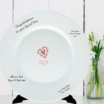 Personalised Ceramic Plates for Wedding Anniversary Christening  sc 1 st  Pinterest & Personalised Beach Wedding Message Plate | ceramic plates ...