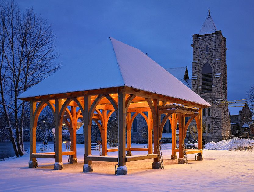 Located in historic Seneca Fall, New York, this pavilion takes its ...