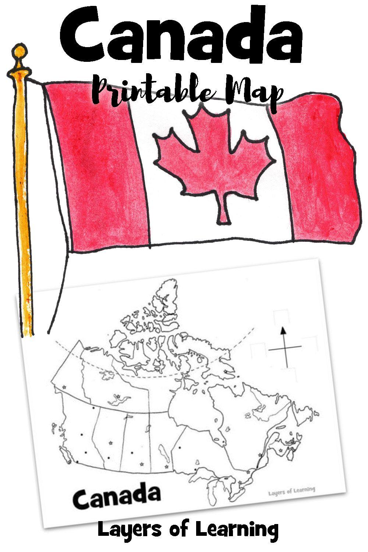 Canada Printable Map Canadian Social Studies Social Studies Elementary Teaching Maps