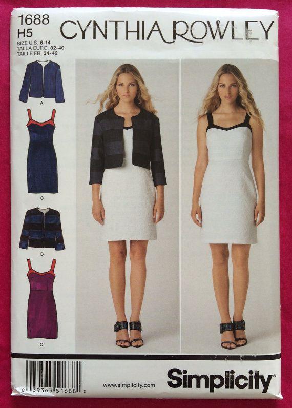 Uncut Simplicity 1688 Cynthia Rowley Dress Jacket Sewing Pattern