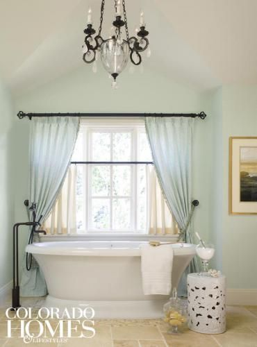 Sweet And Simple The Master Bath Is Painted In Salts By Benjamin Moore A Slightly Diffe Shade Of Green Than Bedroom
