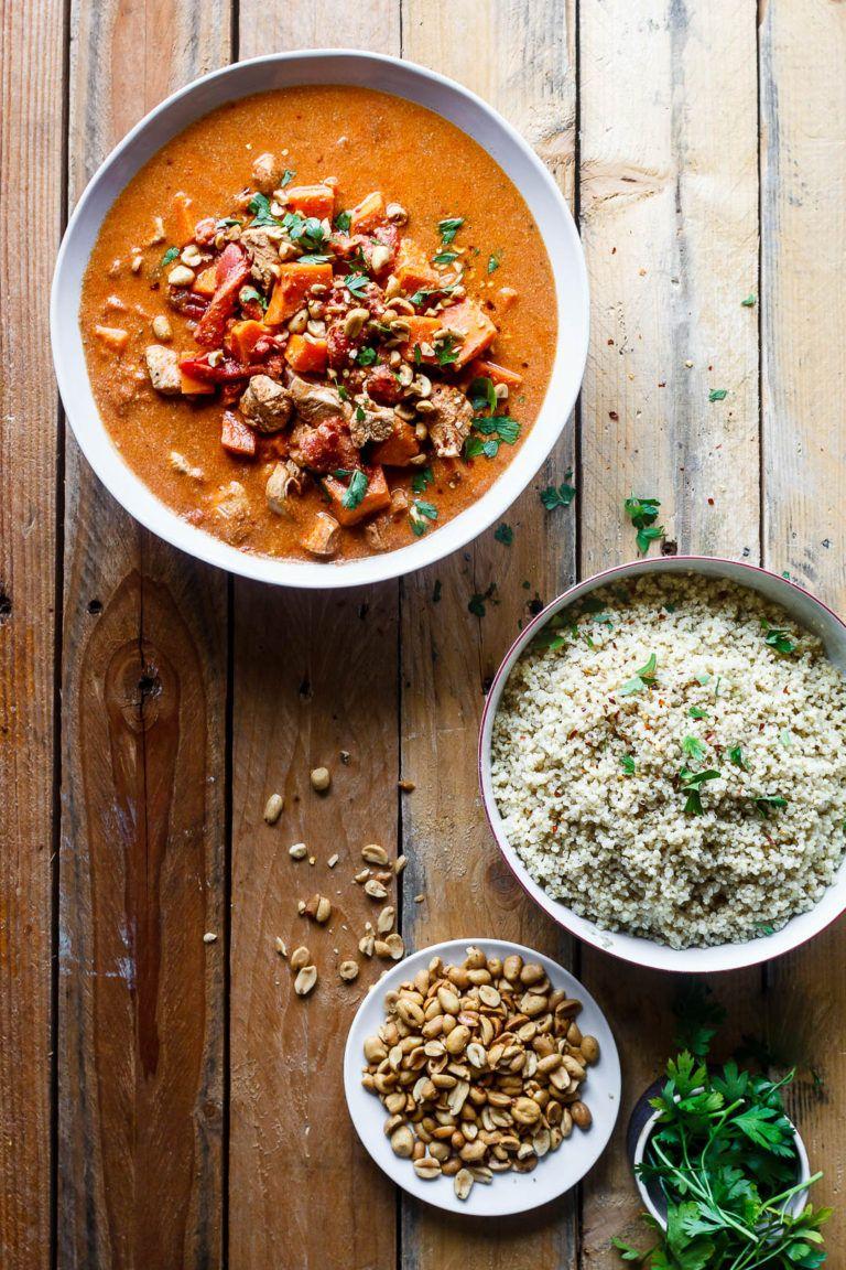 Afrikansk gryde med kylling, søde kartofler og peanuts | Opskrift | Aftensmad | Pinterest | Mad ...
