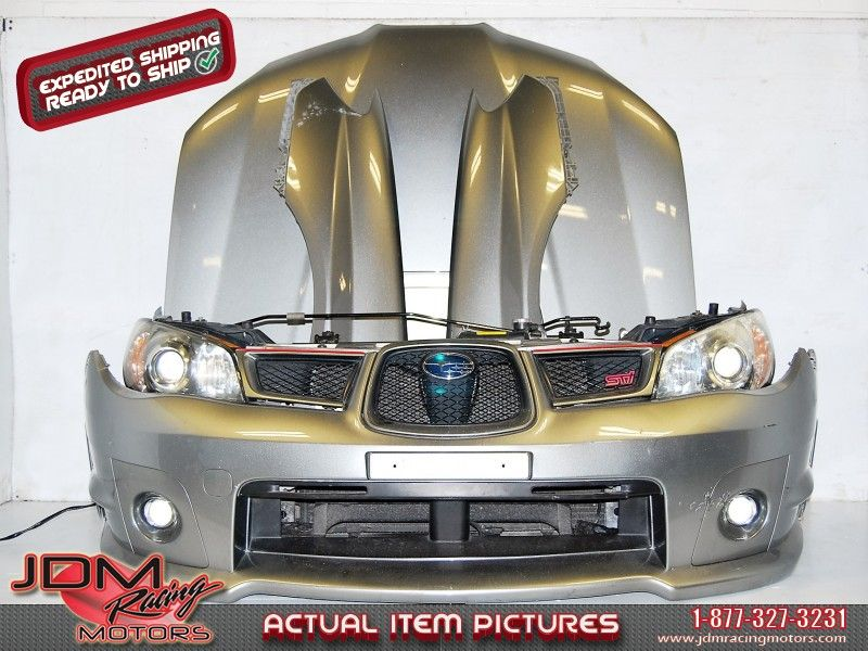 wrx sti 2006 2007 version 9 sedan front end conversion jdm v9 nose