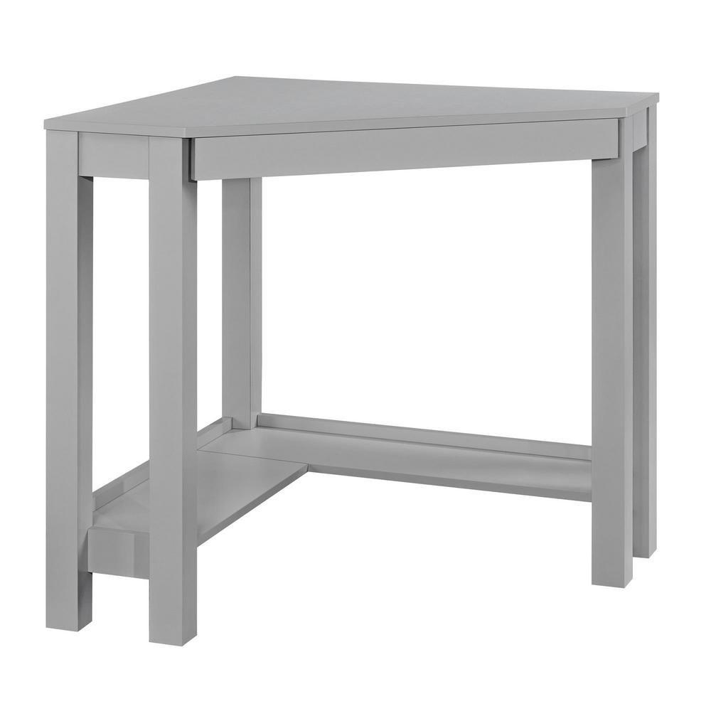Ameriwood Home Nelson Gray Corner Desk Hd65392 In 2019