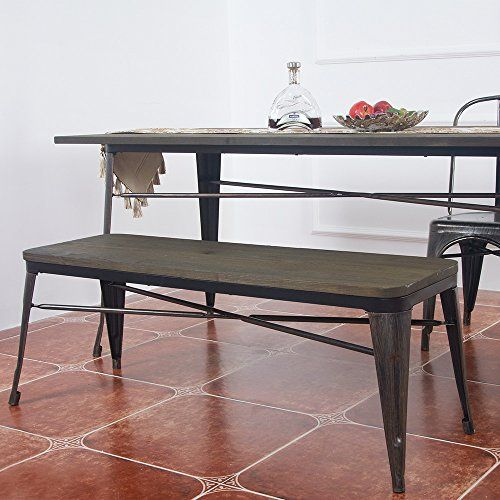 Admirable Merax Antique Style Dining Bench Indoor Outdoor Table Alphanode Cool Chair Designs And Ideas Alphanodeonline