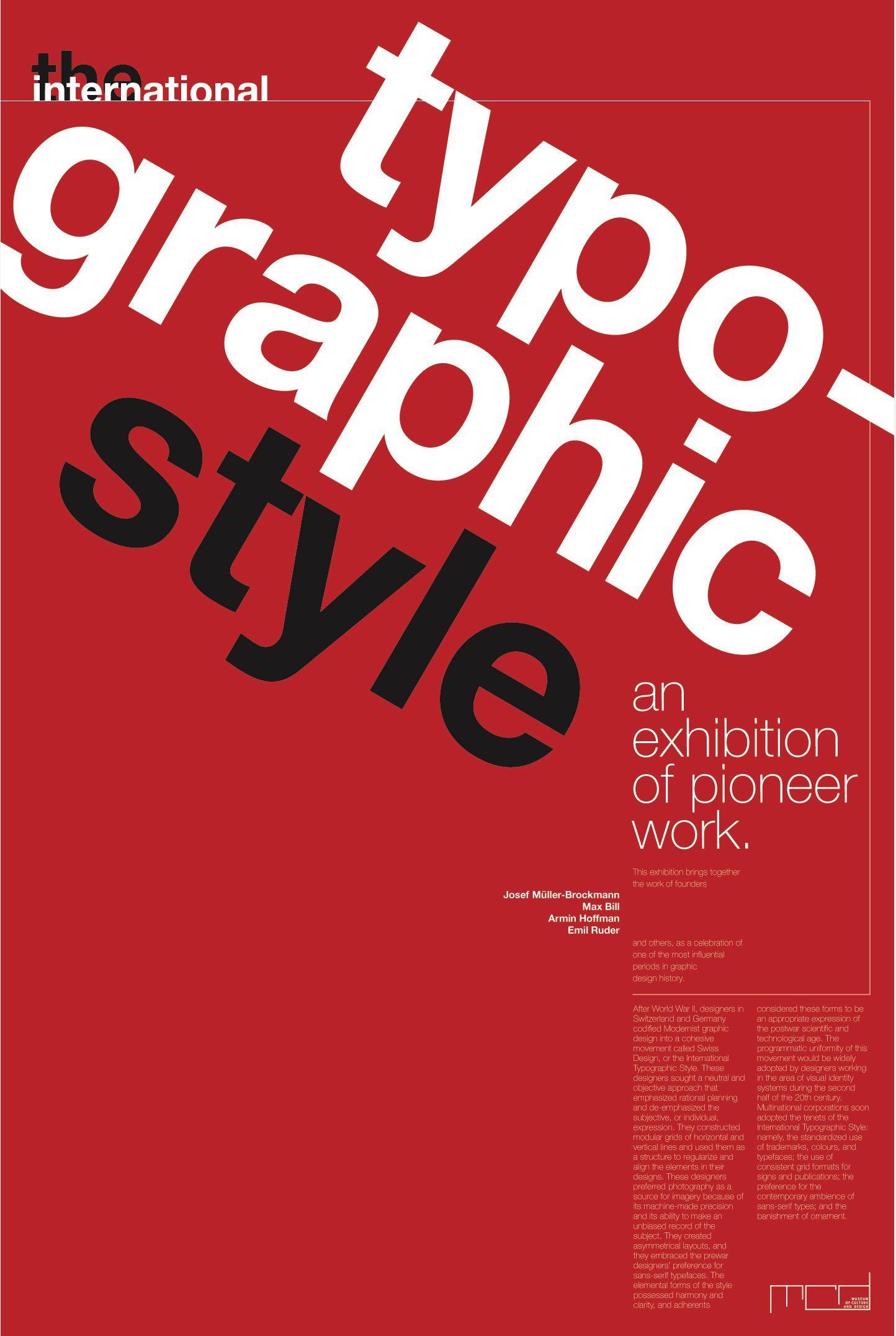 Swiss Style International Typographic Style Simplistic