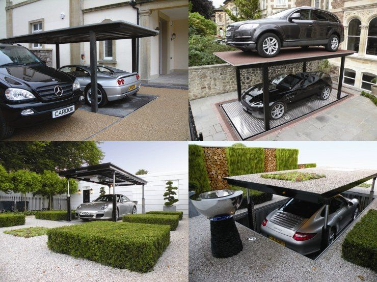 ascenseur pour voiture un garage sous terrain pour votre voiture am nagement d co. Black Bedroom Furniture Sets. Home Design Ideas