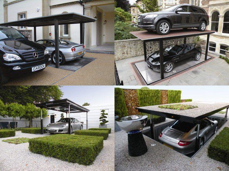 ascenseur pour voiture un garage sous terrain pour votre voiture lacher terre et voitures. Black Bedroom Furniture Sets. Home Design Ideas