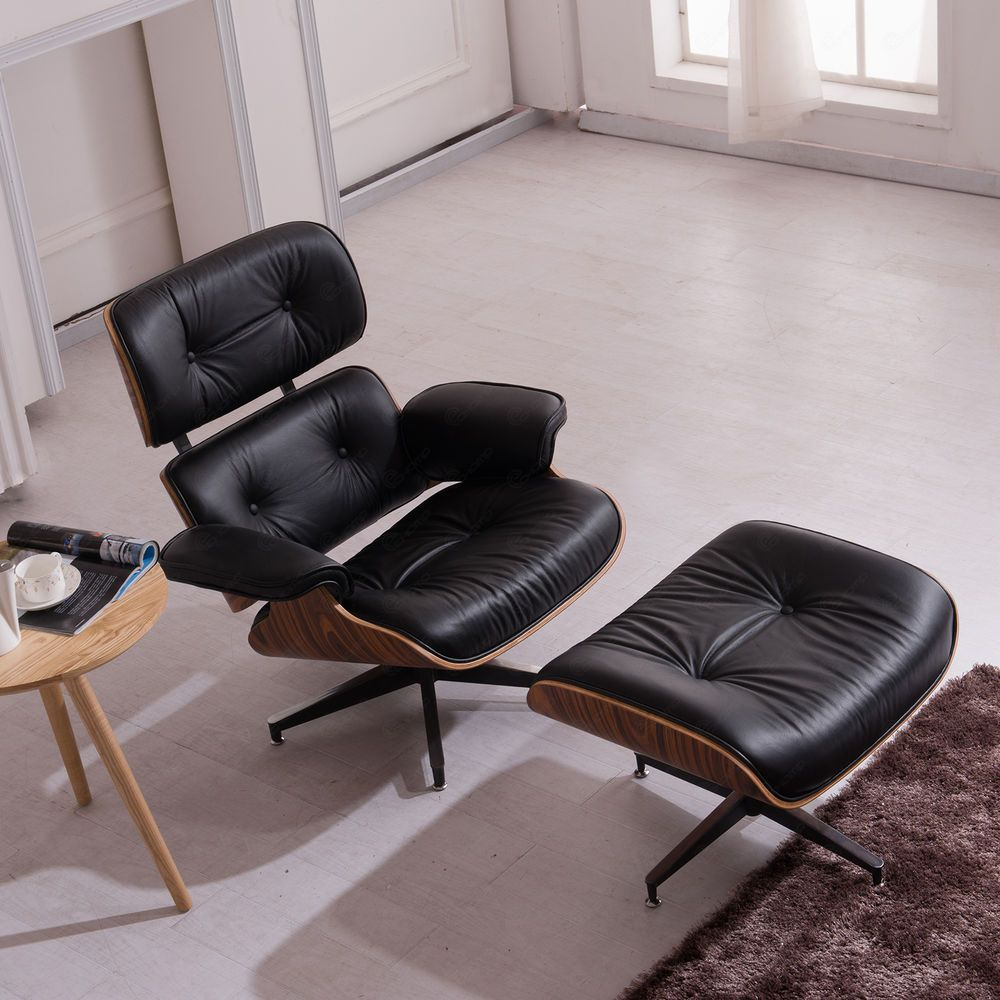 Eames Style Lounge Chair Ottoman Rosewood Genuine 100 Top