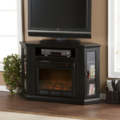 Pin On Home, Black Media Storage Tv Stand And Electric Fireplace