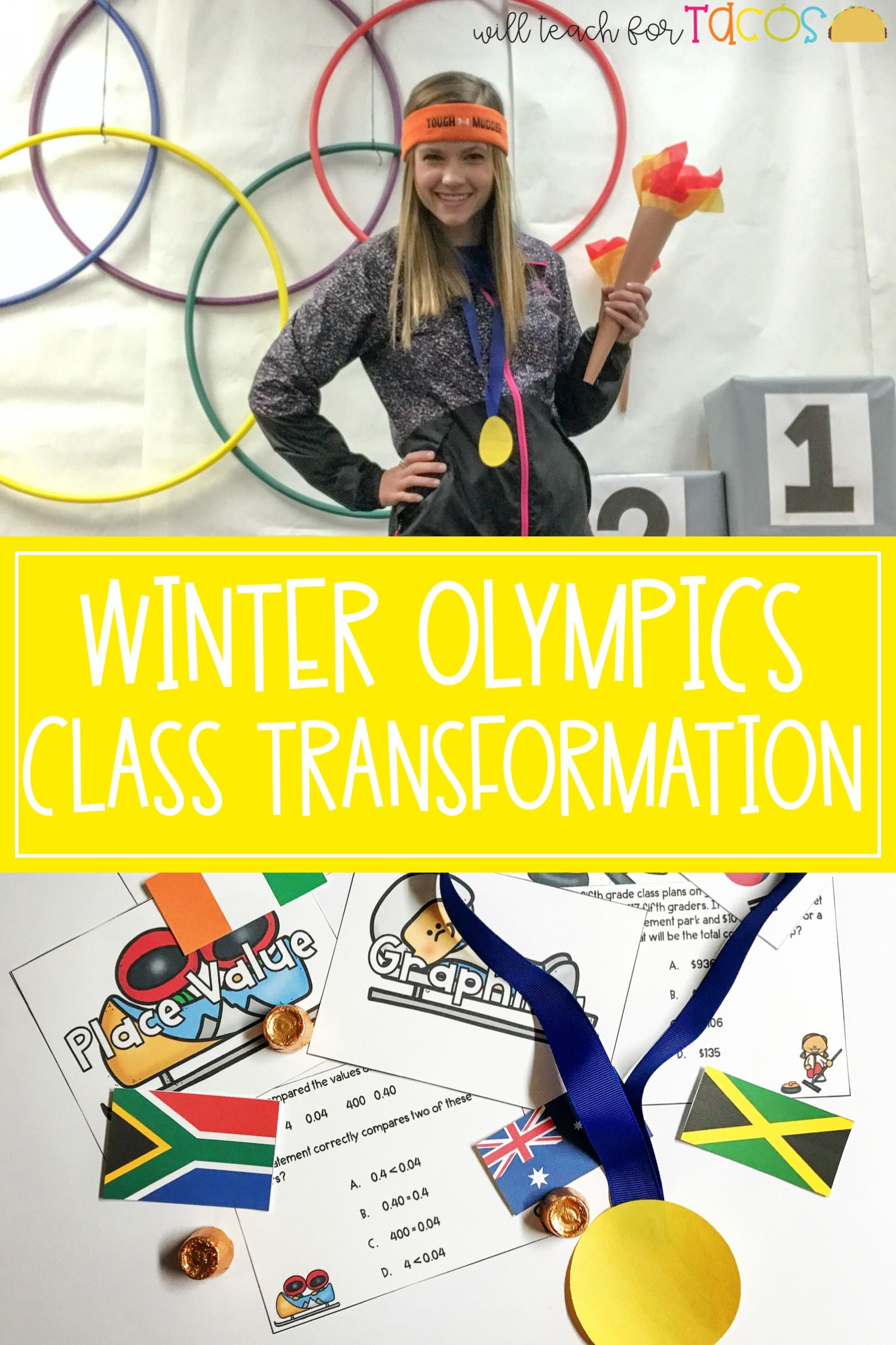 Winter Olympic Themed Class Transformation And Staar Test