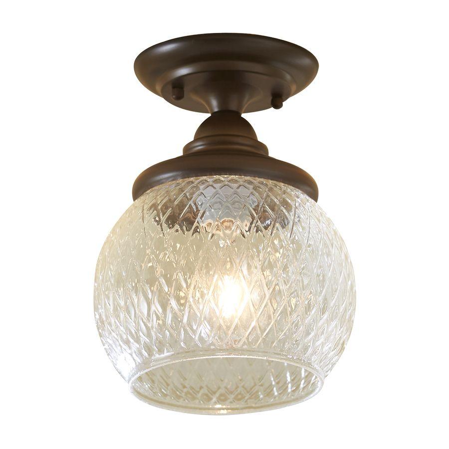 Shop Allen Roth Cardington 8 66 In W Bronze Mini Pendant