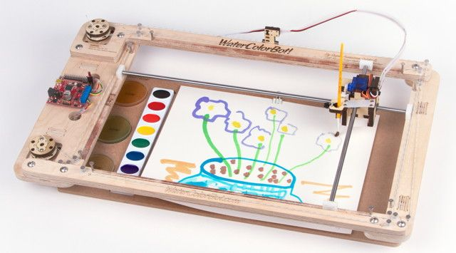 A Friendly Art Robot That Moves A Paint Brush To Paint Your