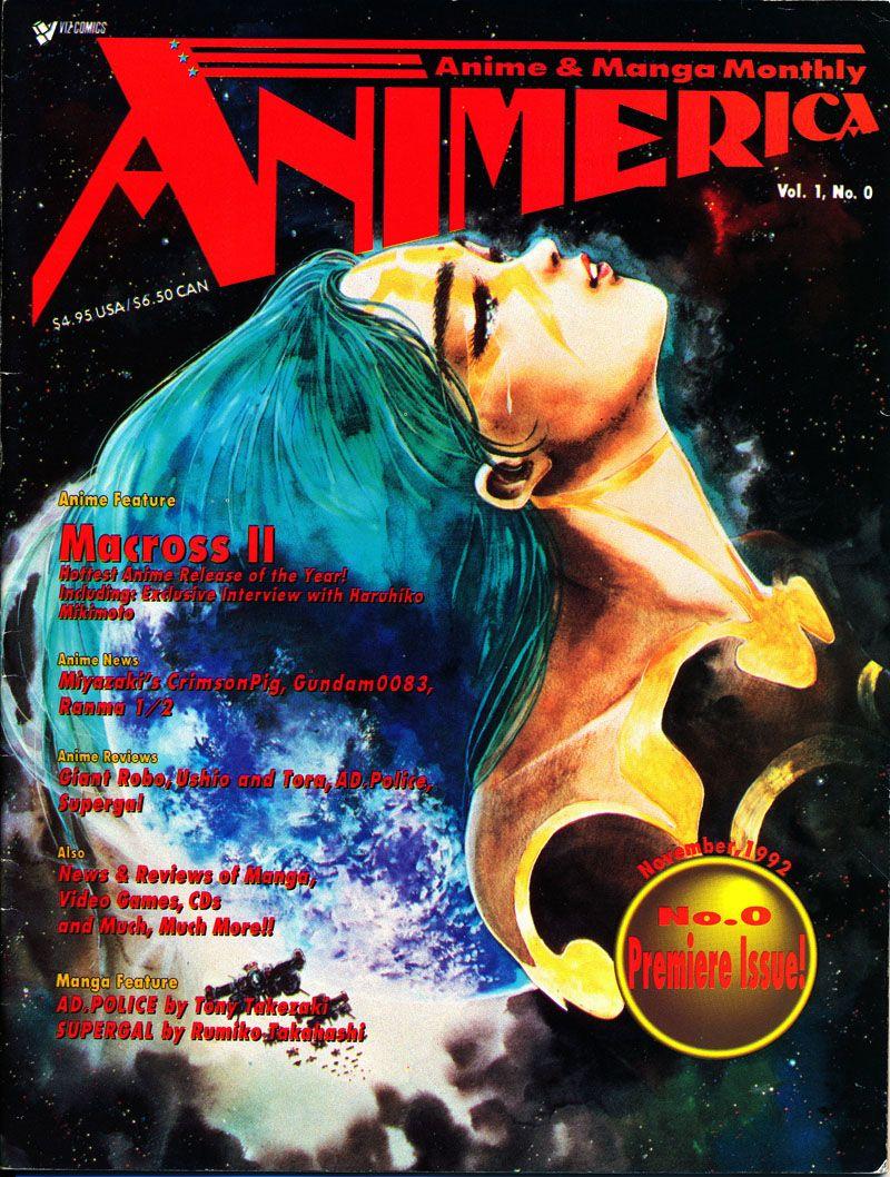 Animerica magazine volume 1 issue 0 macross ii cover