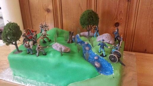 Civil War Battle Scene Cake Themed Cakes Civil War Projects