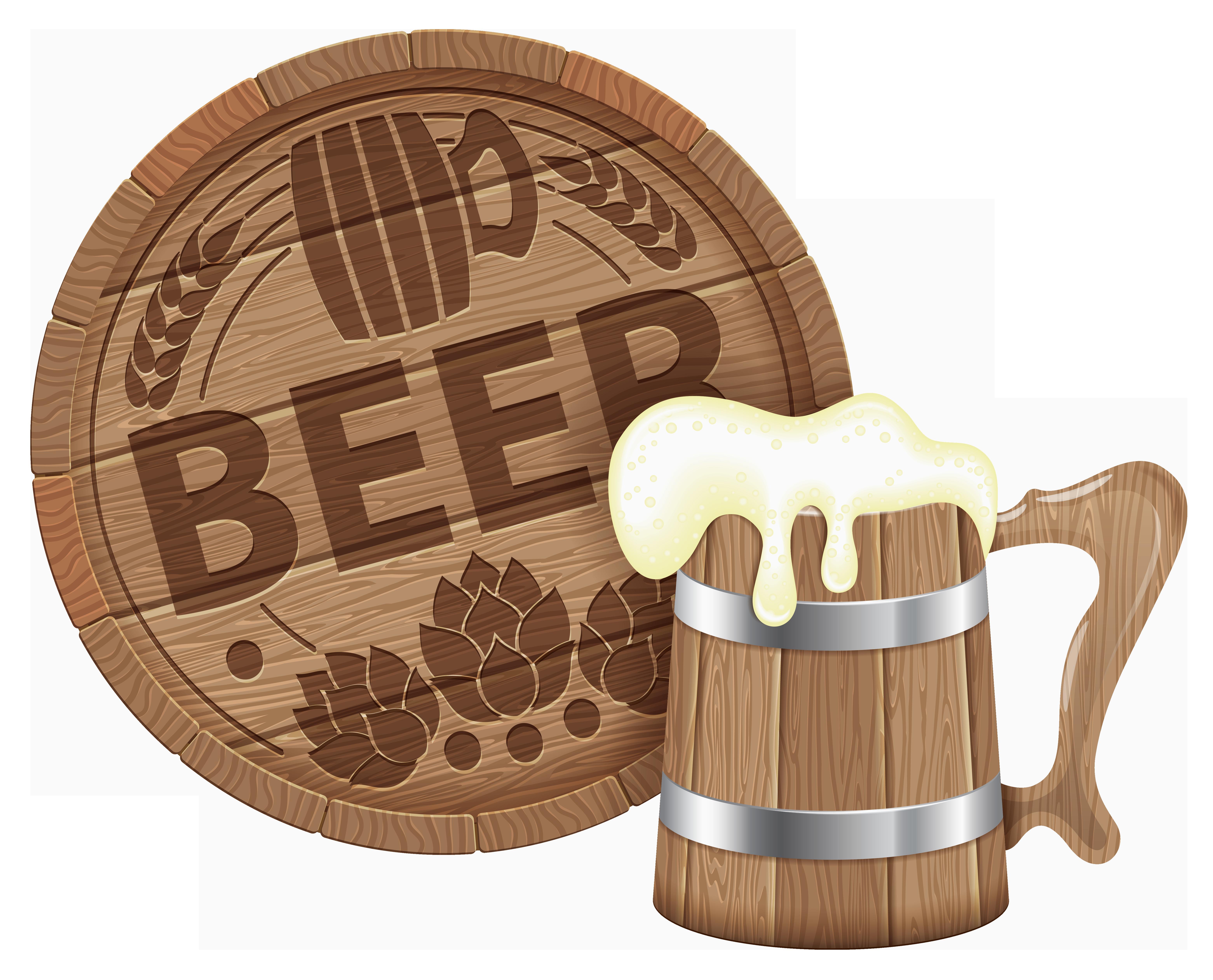Oktoberfest Beer Barrel And Mug Png Clipart Picture Oktoberfest Beer Beer Beer Barrel