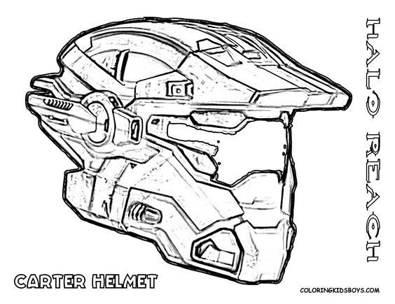 Heavy Halo Reach Coloring With Images Coloring Pages For Boys