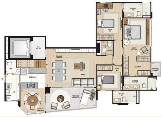 Apartamento Planta 150m2