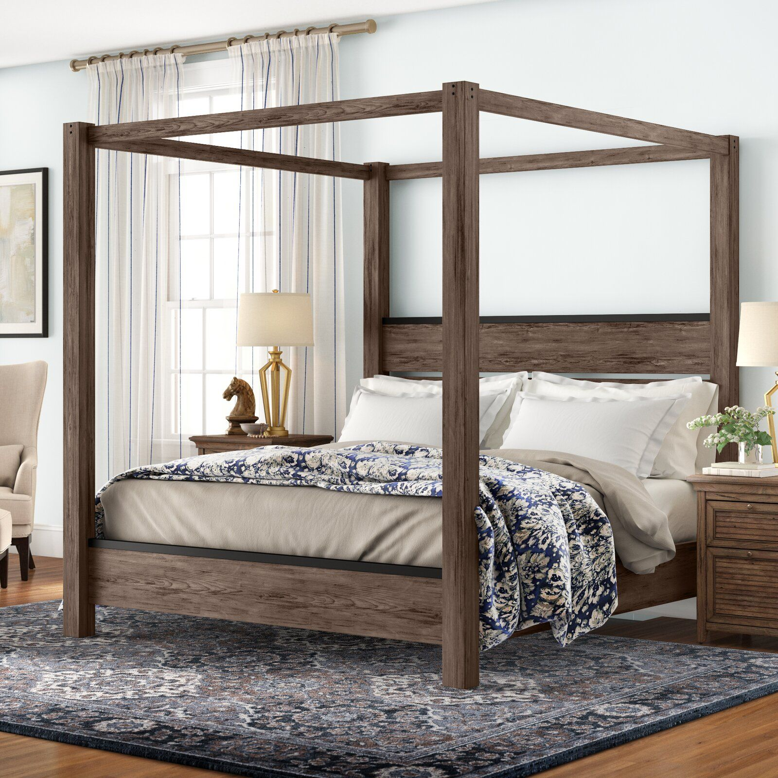 Bartow canopy bed in 2020 canopy bed frame modern