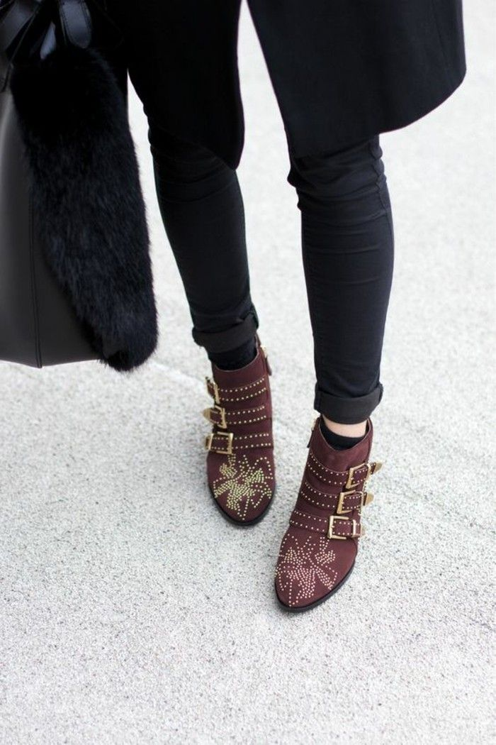 Les bottines cloutées - la tendance chaussures qui a marqué l hiver ... a19128df0a9