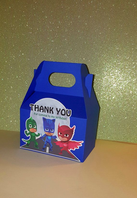 PJ Masks Favor Boxes Inspired by PJ Masks by PishPoshPartique