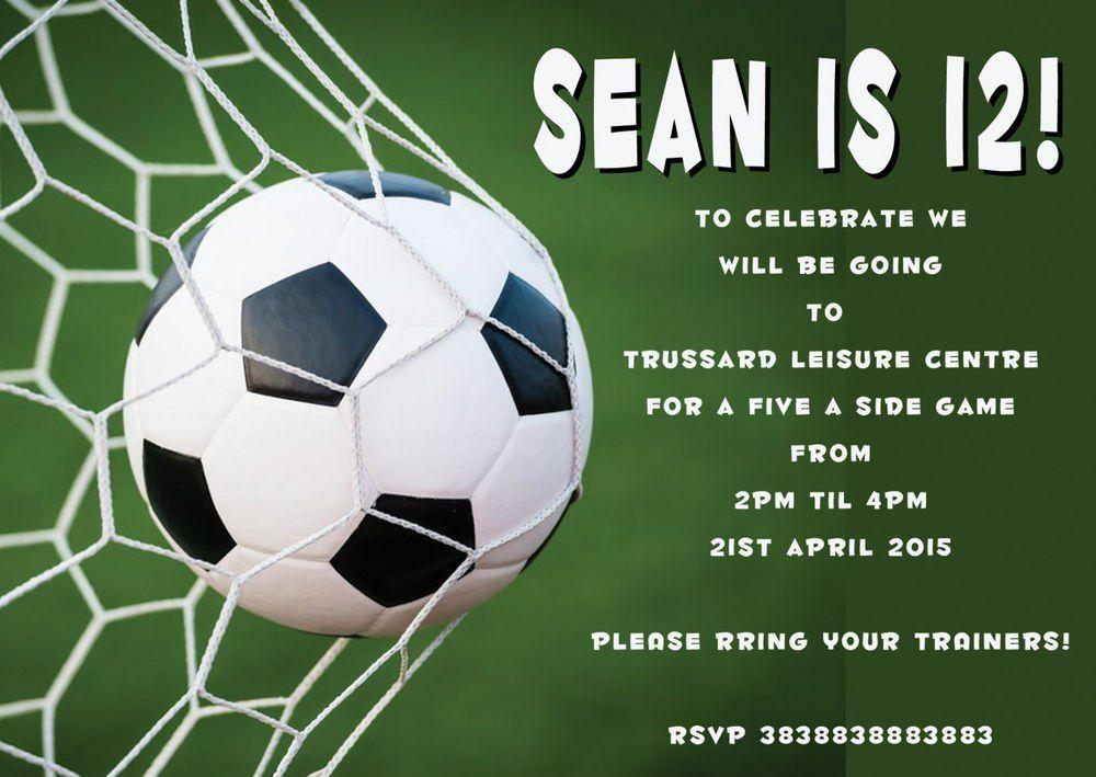 Football party invitations free printable uk football