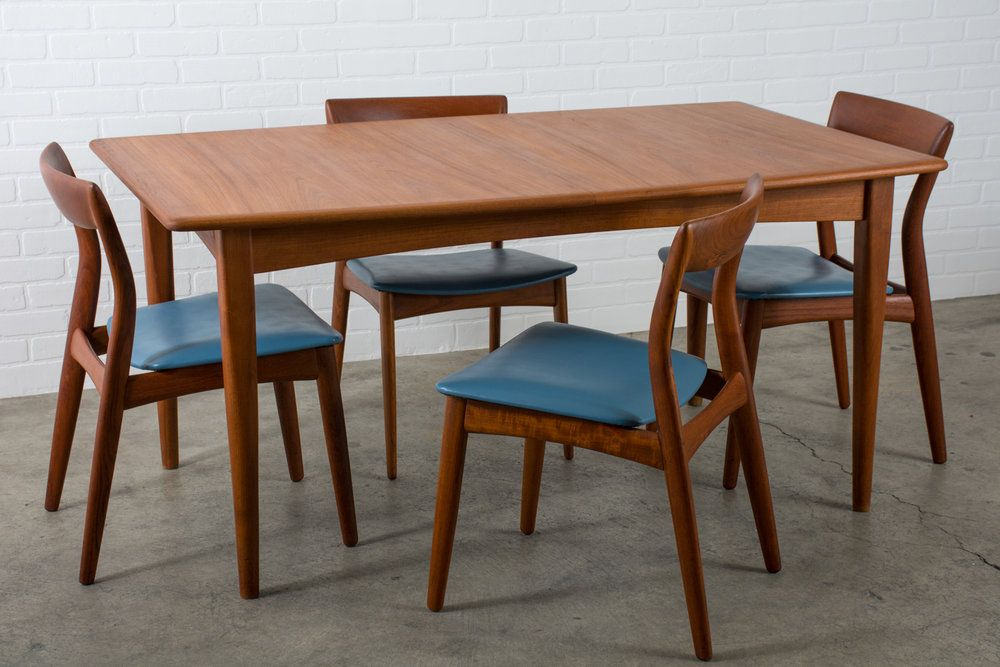 Six Mid Century Modern Teak Dining Chairs By Viborg Stolefabrik Denmark Mid Century Modern Finds Teak Dining Chairs Dining Chairs Wooden Patio Chairs