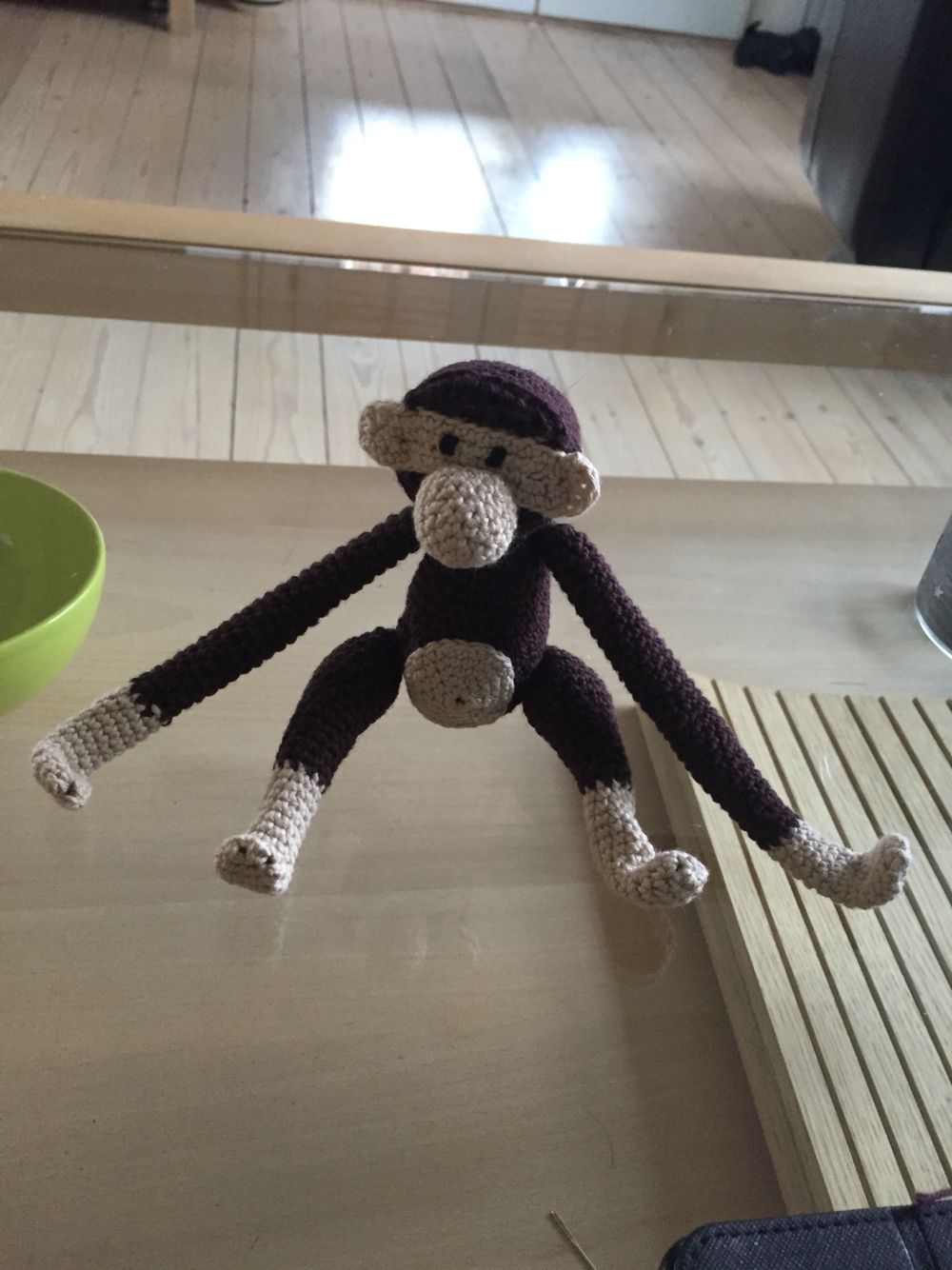 Monkey needlework. Tribute to Kay Bojesen