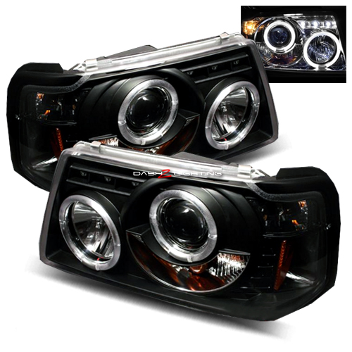 01 09 Ford Ranger Led Halo Projector Headlights Black Ford Ranger Mods Ford Ranger Ford Ranger Pickup