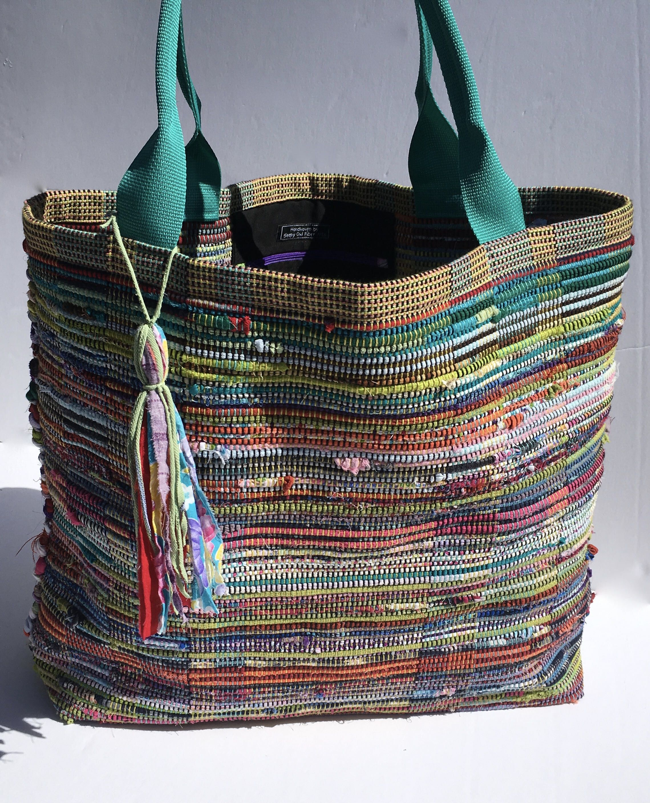 Extra Large Shabby Chic Rag Bag/ Boho bag/ Hit or Miss
