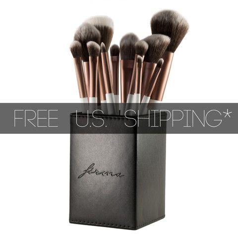 12piece elite full set with box  full makeup brush set