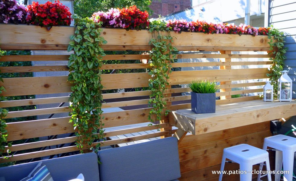 Privacy screen on a rooftop terrace Boivin #rooftopterrace