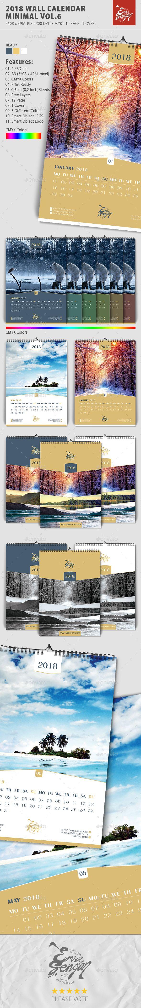 2018 wall calendar minimal vol6 minimal calendar design and font 2018 wall calendar minimal vol6 saigontimesfo