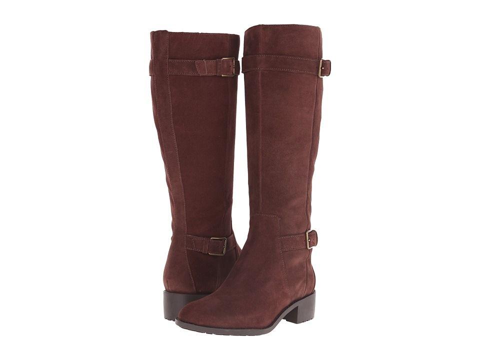 Womens Boots Cole Haan Putnam Waterproof Boot Extended Calf Chestnut Suede