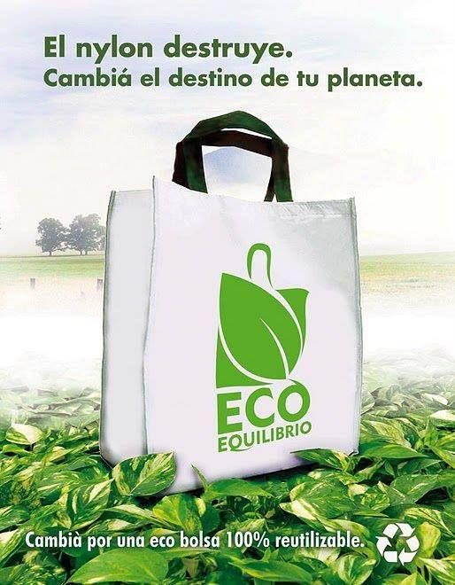 Afiche, Bolsas ecológicas.