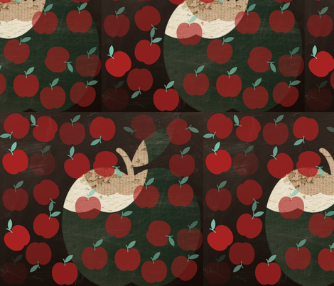 Apple toss-up fabric by katawampus on Spoonflower - custom fabric
