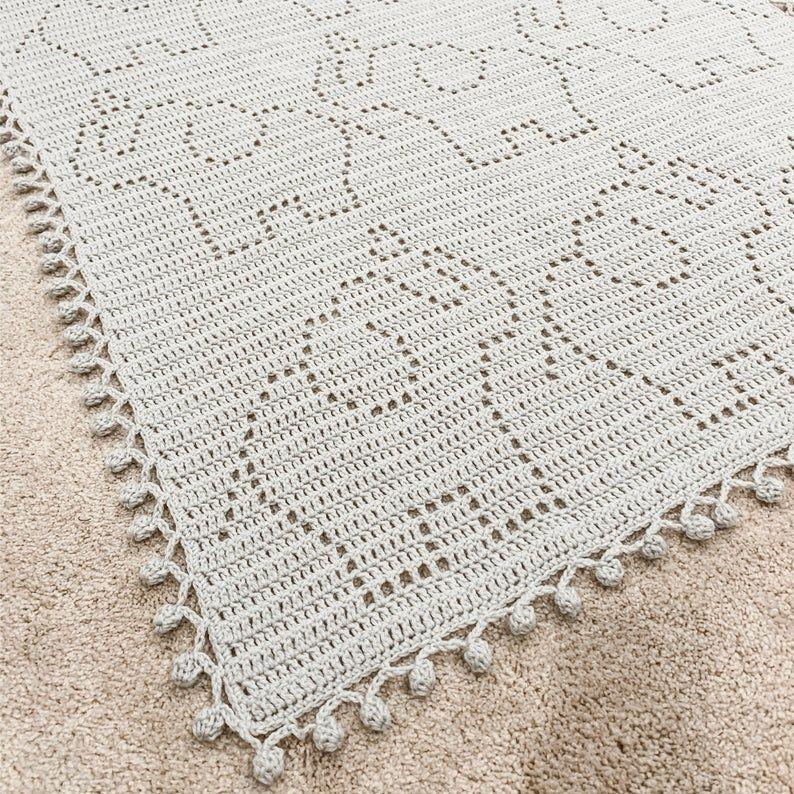 Crochet elephant blanket, pattern by Ira Rott - Album on Imgur   794x794