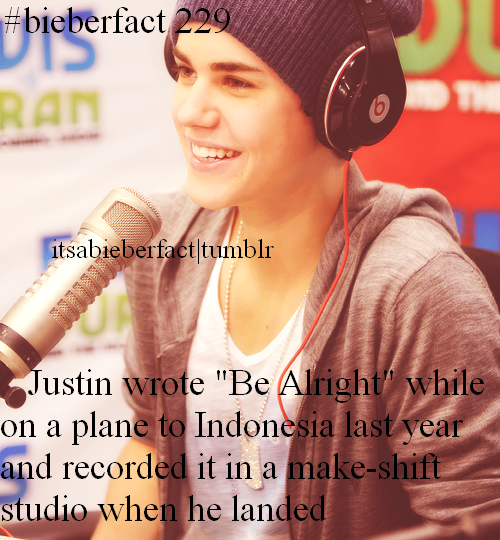 #BieberFact Be Alright will always be one of my favorite songs off all time