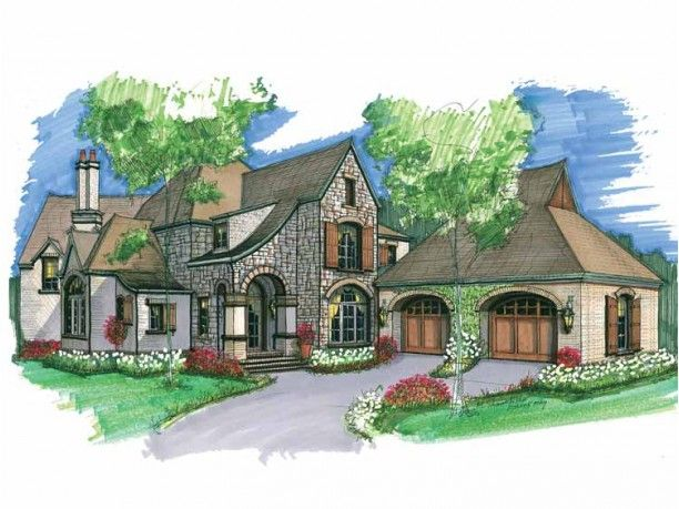 French Country House Plan with 3961 Square Feet and 3 Bedrooms from Dream Home Source | House Plan Code DHSW53556