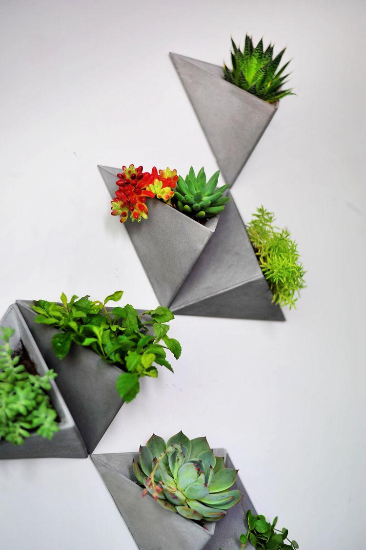 silicone molds Flower pots, Concrete pot molds, Concrete